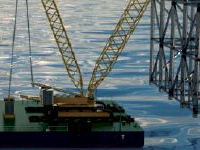 İlk Construcion has constructed 1600 ton crane barge for offshore heavy lifting works.