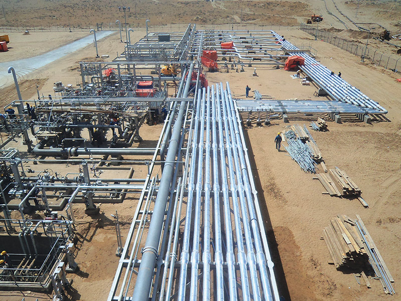 Engineering, Procurement, Installation and Commissioning of 4 nos Gas Treatment Units each has 5 BCMA capacity natural  gas primary treatment system.