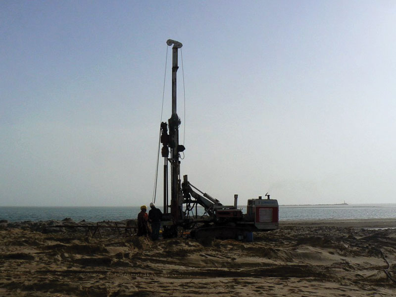 Sea and ground surveys at parts of the Caspian and Aladja Land.