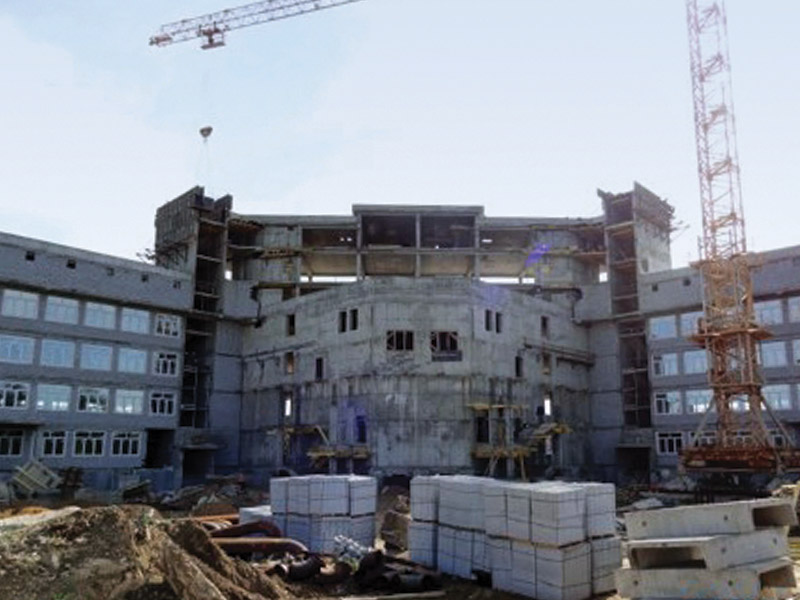 Reinforced concrete and block works of Technical University.