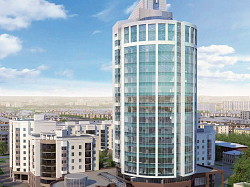 Reinforced concrete  works of 20 floors business centre and small hotel complex. Closed Area : 20.700 m²