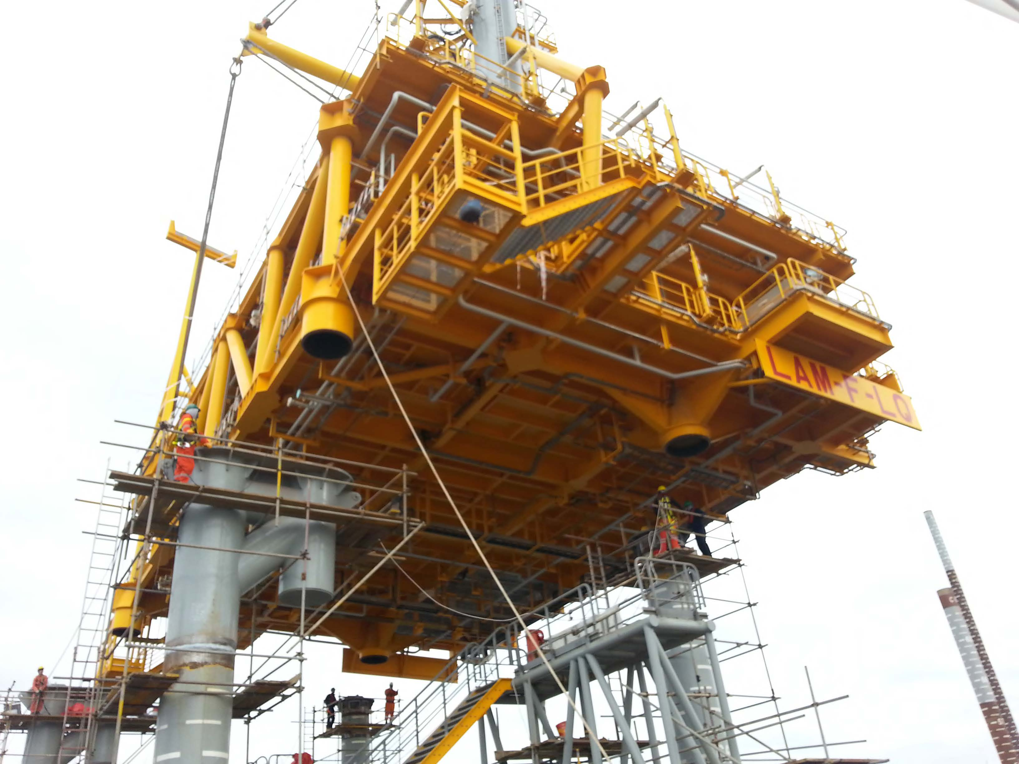 Engineering, Procurement, Fabrication, Integration, Load Out, Piling, Offshore Installation and Commissioning of Drilling platform, living quarter, helidecks, subsea and dubsea pipelines.