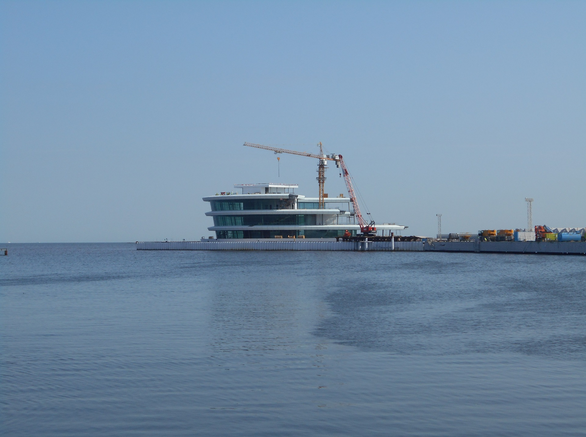 Construction of the Reinforced Concrete Package of offshore Leisure Facility in Boulevard Area.